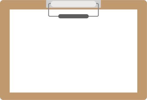 Horizontal binder with blank paper (brown)