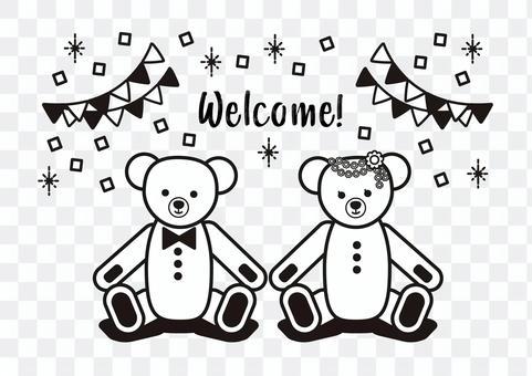 兩隻泰迪熊
