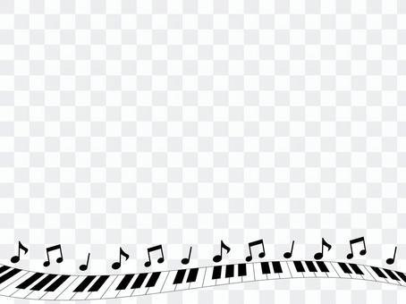 Piano decorative frame 5