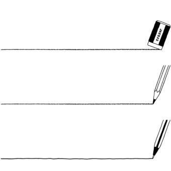 Decorative ruling (writing instrument 2) monochrome
