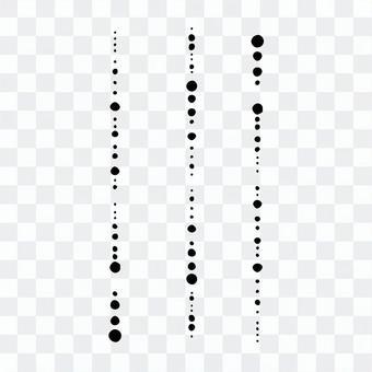 隨機大小的虛線