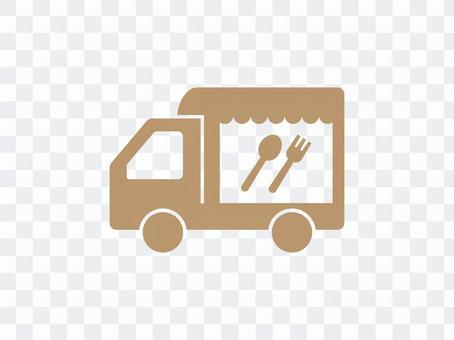 流動銷售廚房汽車象例證