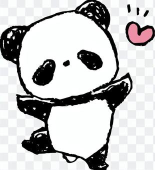 Child panda-pleased