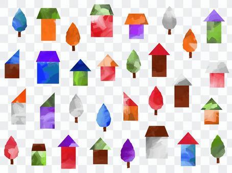 多彩的房子壁紙