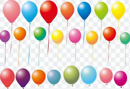 氣球設置氣球設置色彩豐富的插畫