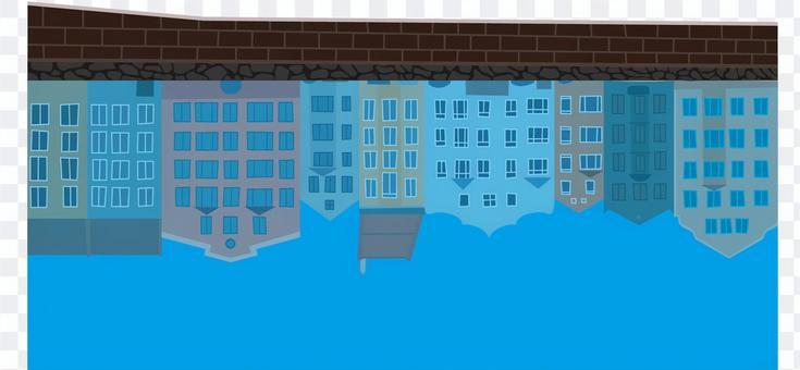水面反射川池海水