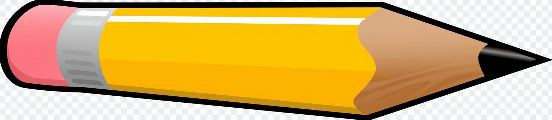 ゴム付き鉛筆 イエロー 黄色