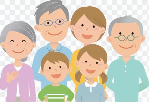 80708. Three generations family, upper body