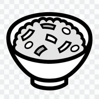 碗米煮熟的米