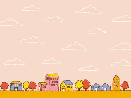 秋天的城市景觀