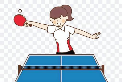 乒乓球運動員的插圖