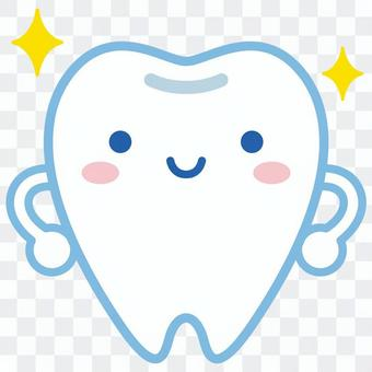 Tooth character-02(閃亮的牙齒)