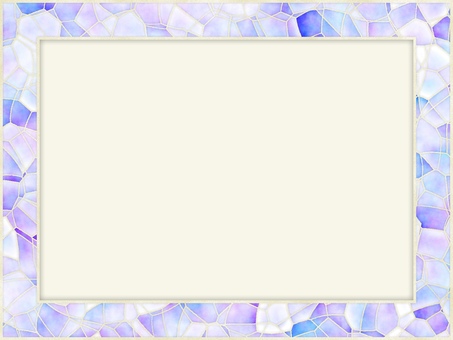 淡藍色粉色紫色相框馬賽克背景