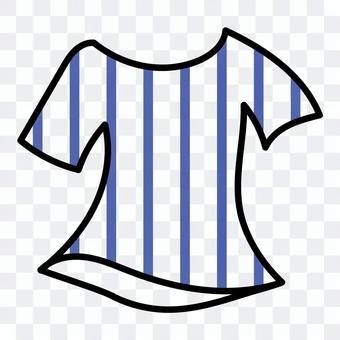 ストライプTシャツ(ブルー)