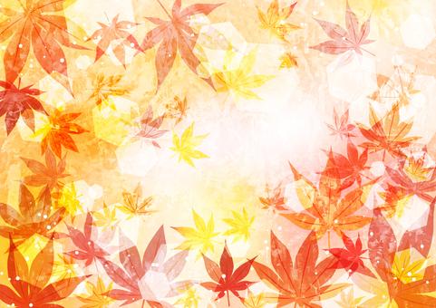 油彩風紅葉背景