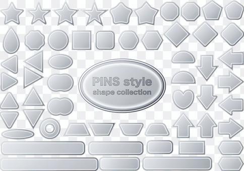 Button icon badge figure metal