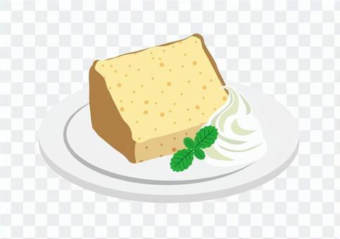 Chiffon cake without cut lines