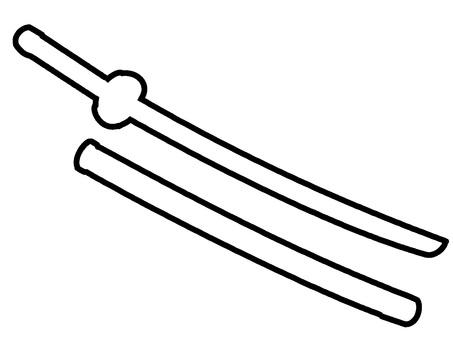 日本刀的輪廓