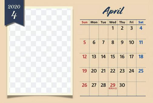 2020年フォトカレンダー 4月