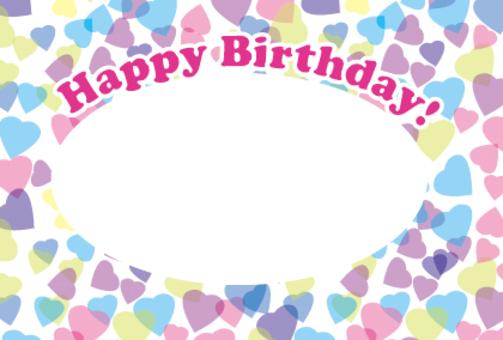 Heart's birthday card