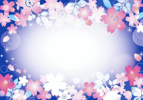 夜櫻桃背景