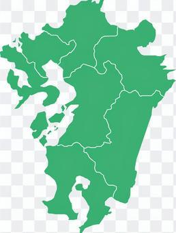 九州地图県立边界有