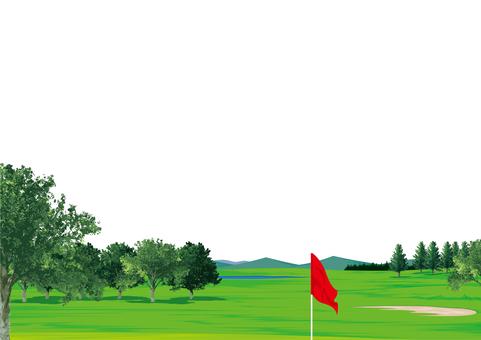 Golf course golf course frame