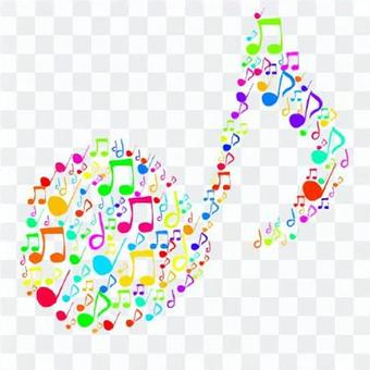 Musical notes (colorful)