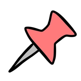 Pushpin thumbtack