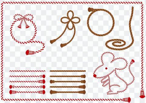縄 ロープ パターンブラシ