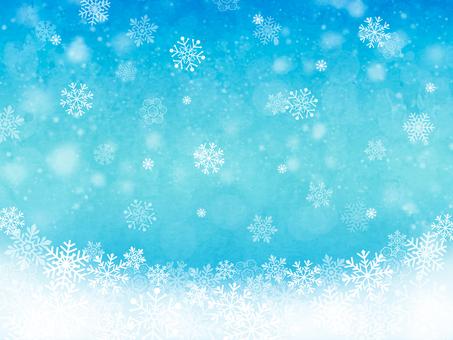 雪花背景藍色