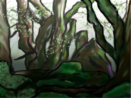 森の背景画像