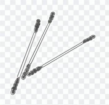 螺旋棉籤(黑白)