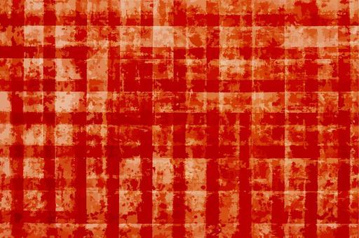 日本紙背景背景網格模式 - 紅色