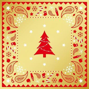聖誕佩斯利圖案(2)黃金