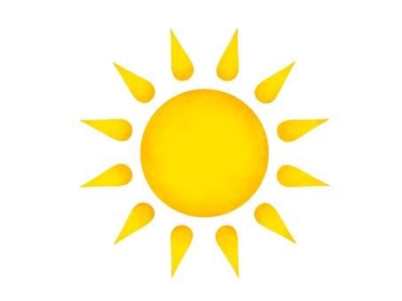 用彩色鉛筆繪製的太陽插圖