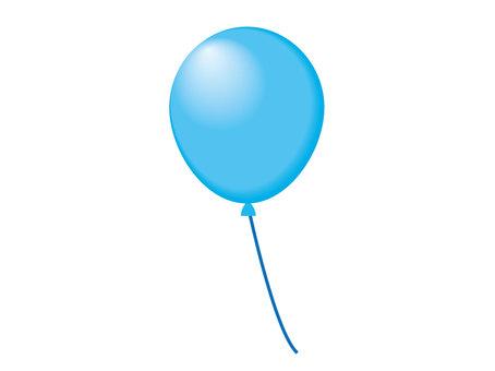 1 balloon light blue