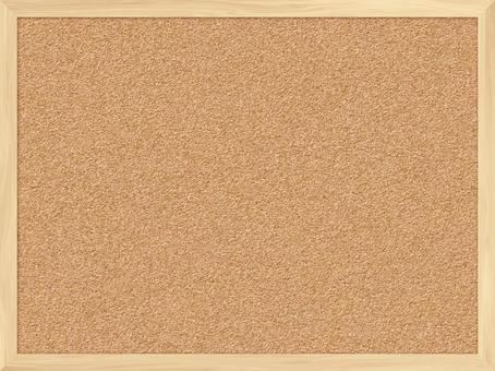 現實的木製軟木板4:3