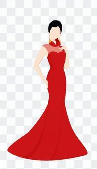 穿紅裙子的女人