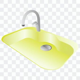 水槽(黃色)