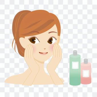 婦女的臉洗劑