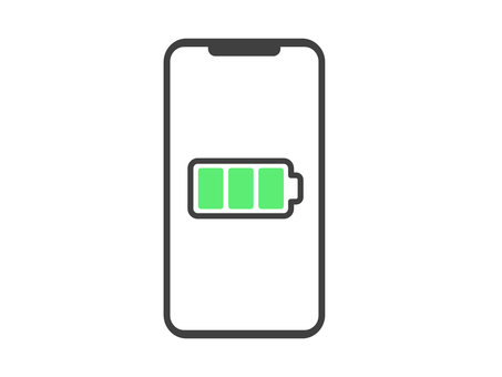 Smartphone charge level icon