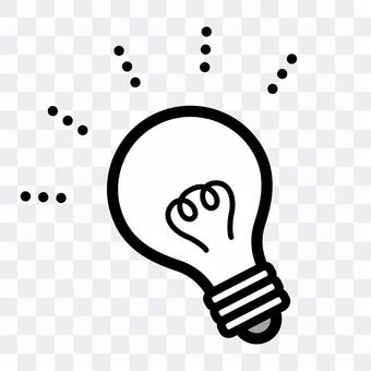Light bulb symbol (white)