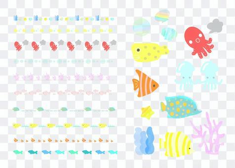 海洋生物線材&插圖集