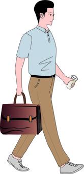 男人走路走路上下班衛生習慣