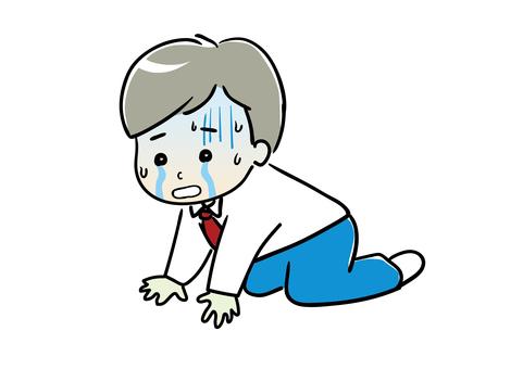 一邊哭一邊鬱悶的上班族02