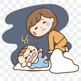 寶寶晚上哭