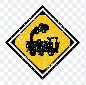 """Railroad crossing"" sign"