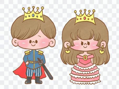 王子和公主的插圖