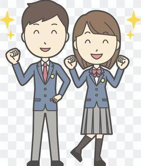 高校生男女セット-018-全身
